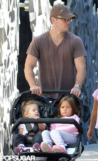 Matt Damon Spends the First Weekend of Fall With His Whole Family