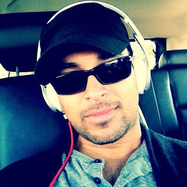 Wilmer Valderrama listened to music during a long flight. Source: Instagram user wilmervalderrama