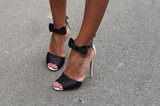 Bow-adorned ankle straps are as sweet as they are sexy. Source: IMAXtree