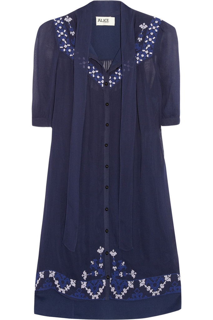 The sweetest kind of day dress, complete with old-school patchwork embroidery. Alice by Temperley Beatrice Shift Dress ($435)