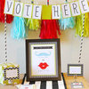 Gender Reveal Party With Modern Graphics and Chevron
