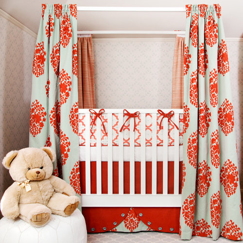 Red-and-Aqua Nursery With Designer Details