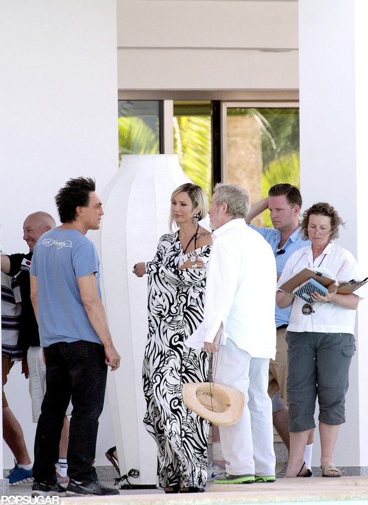 Javier Bardem and Cameron Diaz filmed a scene together for The Counselor in Spain.