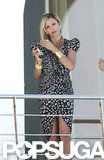 Cameron Diaz wore a sexy dress to film for The Counselor in Spain.