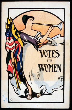 Love this simple retro poster for the suffragettes.