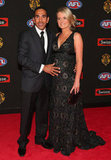 Eddie Betts and Anna Scullie