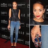 Ashley Madekwe's Gold Drop Earrings