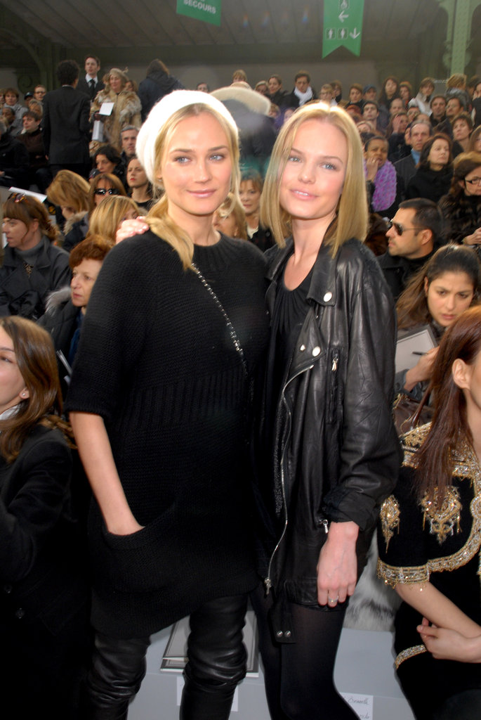 Diane Kruger and Kate Bosworth got stylish at Paris Haute Couture Fashion Week in January 2007.