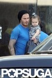 David and Harper Beckham Make an Adorable Afternoon Duo