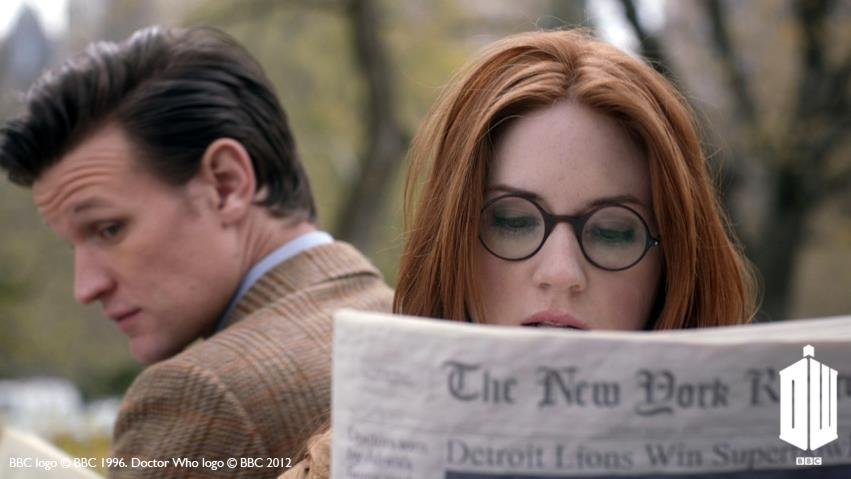 "Karen Gillan on the Beatles-like mania in New York City: ""We did it [filming] in Central Park, which was amazing because we had no idea it would be like that, but we got there and the people were screaming."""
