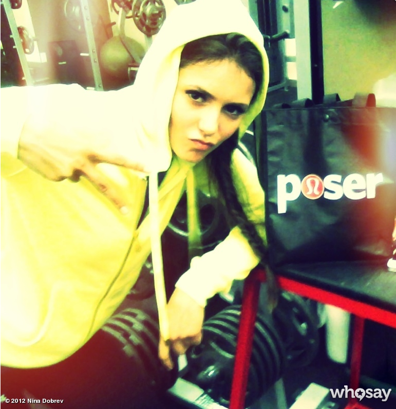 Nina Dobrev posed in a hoodie. Source: Nina Dobrev on WhoSay