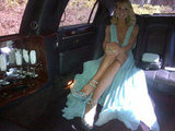 Heidi Klum posed in her limo on the way to the Emmys. Source: Twitter user heidiklum