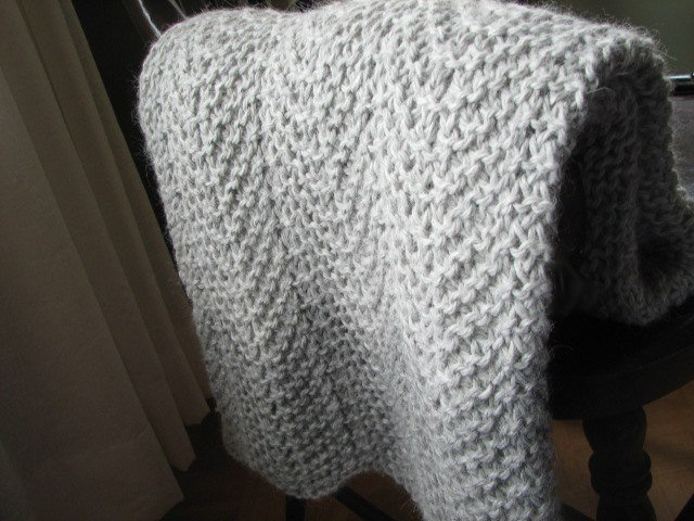 Chevron Knit Baby Blanket