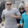Jennifer Lopez Jogging in Poland With Casper Smart