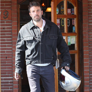 Ben Affleck Leaving Versailles on a Motorcycle | Pictures