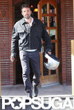 Ben Affleck left a restaurant in Culver City.