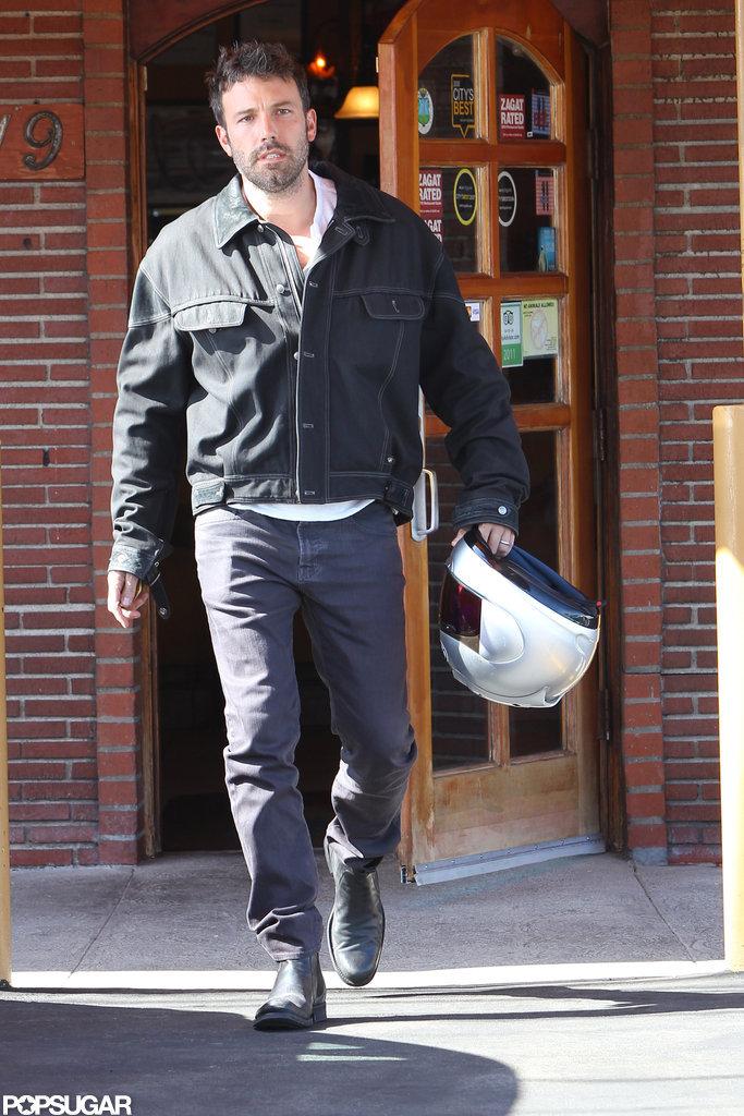 Ben Affleck left a restaurant in Culver City.