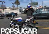 Ben Affleck Makes a Motorcycle Stop For Cuban Food