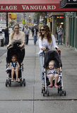 Sarah Jessica Parker took a stroll with her twins, Loretta Broderick and Tabitha Broderick.