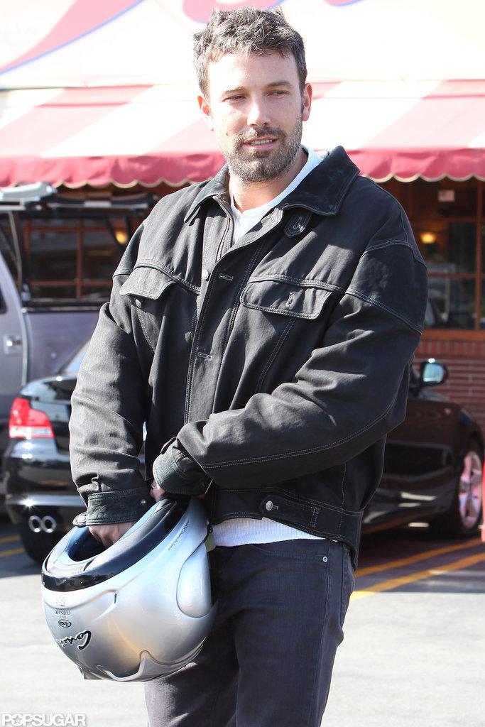 Ben Affleck rocked a black jacket.