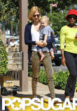 January Jones carried Xander out of Whole Foods.