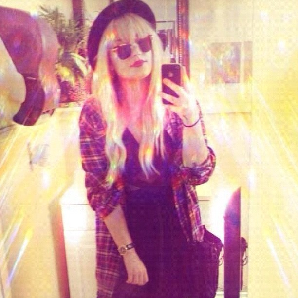 Demi Lovato showed off a '90s-grunge look. Source: Instagram user demilovat