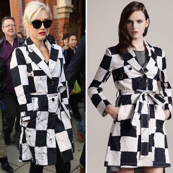 Stand out like Gwen Stefani in a quirky take on the classic trench.