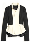 Smart colorblocking accentuates the peplum detail on this sleek blazer. Throw it on with a pair of jeans to infuse your weekend wear with sharp style.  Wes Gordon Double Peplum Jacket ($2,150)