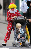 Naomi Watts donned clown gear to take in Halloween 2011 on the streets of NYC.