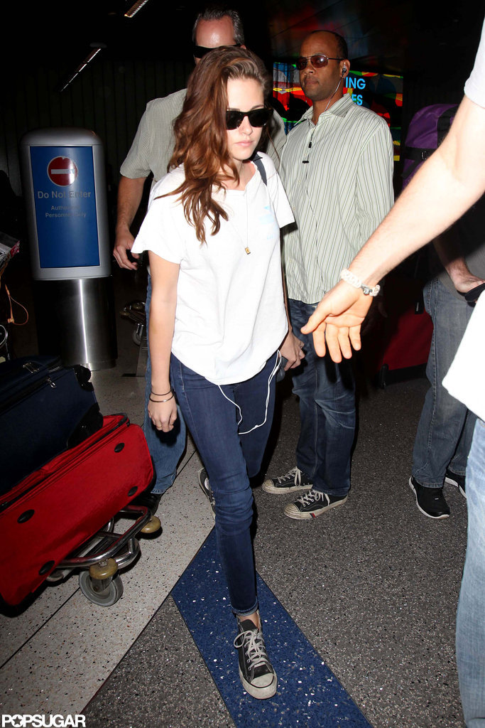 Kristen Stewart returned from Paris.
