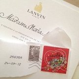 When invites for the Paris runway shows were rolling in, we loved how the Lanvin invitation came with a special Lanvin stamp.