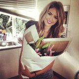 Jesinta Campbell was the recipient of a beautiful bunch of flowers. Source: Instagram user jesinta_campbell