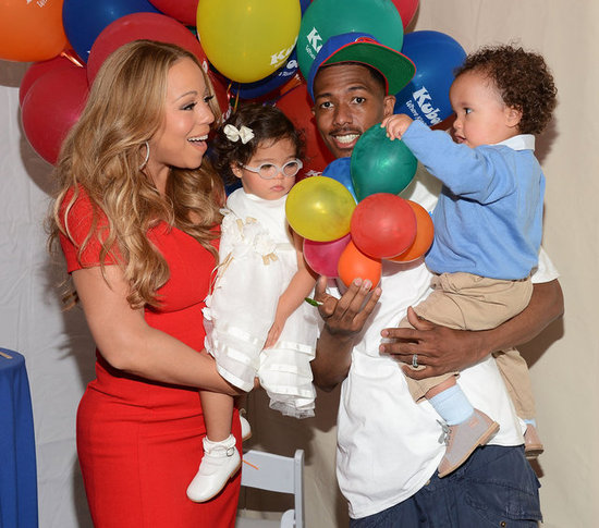 Mariah Carey and Nick Cannon Take the Twins to an Amusement Park