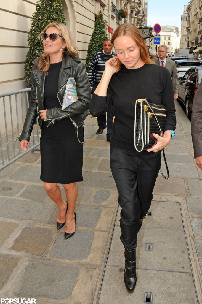 Kate Moss and Stella McCartney both wore black ensembles.