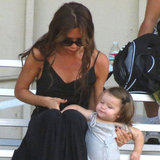 Cute Footage of Victoria Beckham With Harper Watching Soccer