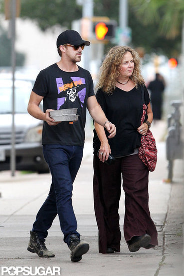 Ryan Gosling spent time with his mom in Texas.