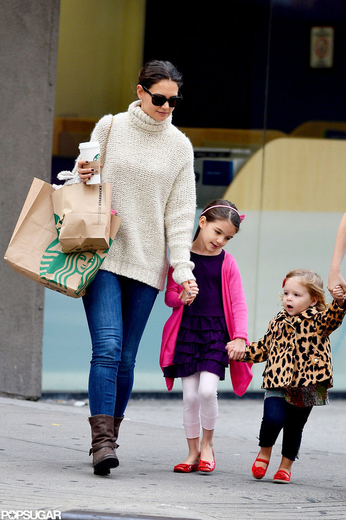 Suri Cruise and Katie Holmes were together in the Big Apple.