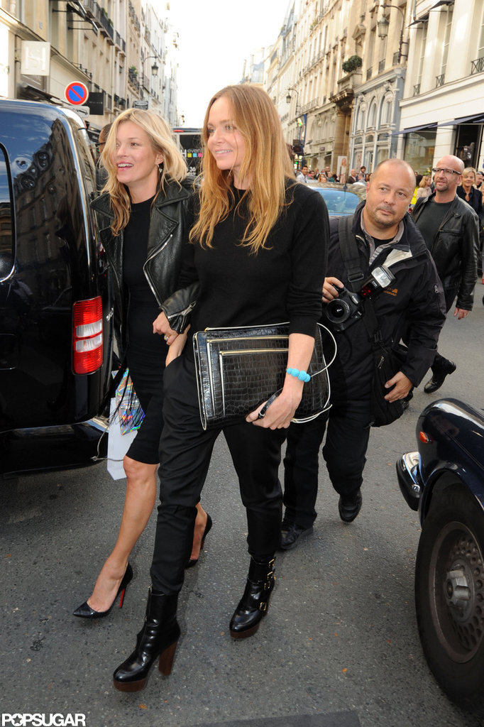 Stella McCartney and Kate Moss had a shopping day in Paris.
