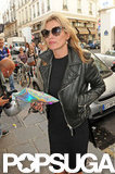 Kate Moss sported sunglasses in Paris.