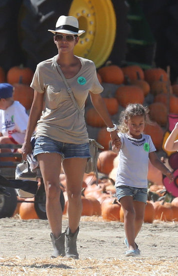 Halle Berry and Nahla Aubrey walked together.