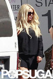 Jessica Simpson showed off her long blond hair.