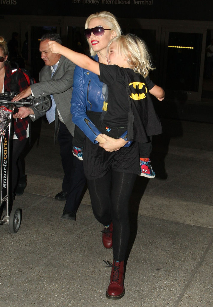 Gwen Stefani carried Zuma out of LAX.