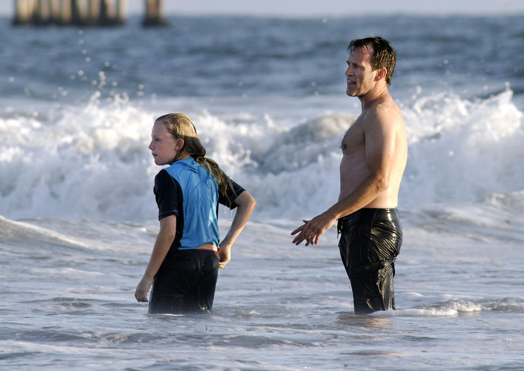 Stephen Moyer and Lilac Moyer took to the water in Venice Beach.