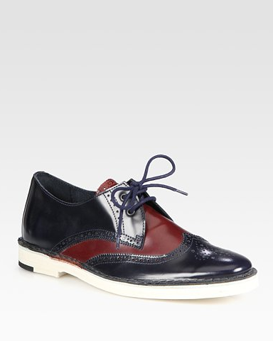 We love that these Pierre Hardy Two-Tone Leather Oxfords ($500) have a sportier feel, thanks to a comfy rubber sole.