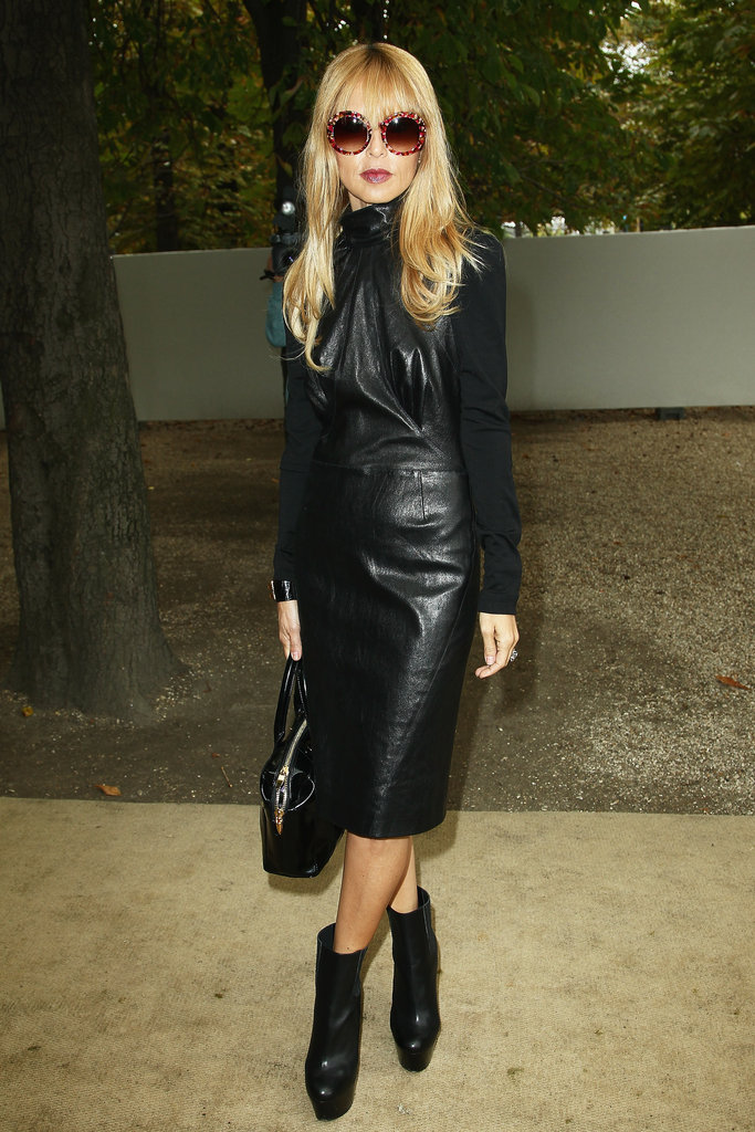 Leather on leather has never looked better — and we've got Rachel Zoe's Viktor & Rolf ensemble to thank for that.