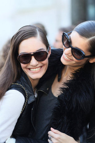 Model smiles and model shades all around.