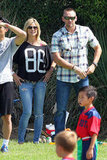 Heidi Klum and her former bodyguard took the entire family to cheer on her eldest tot, Henry, at his soccer game at an LA park this weekend.