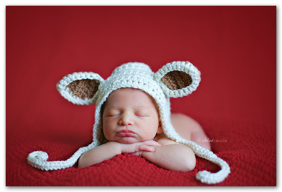 My Little Lamb Newborn Baby Hat