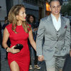 Jennifer Lopez Wearing Red Dress With Slit