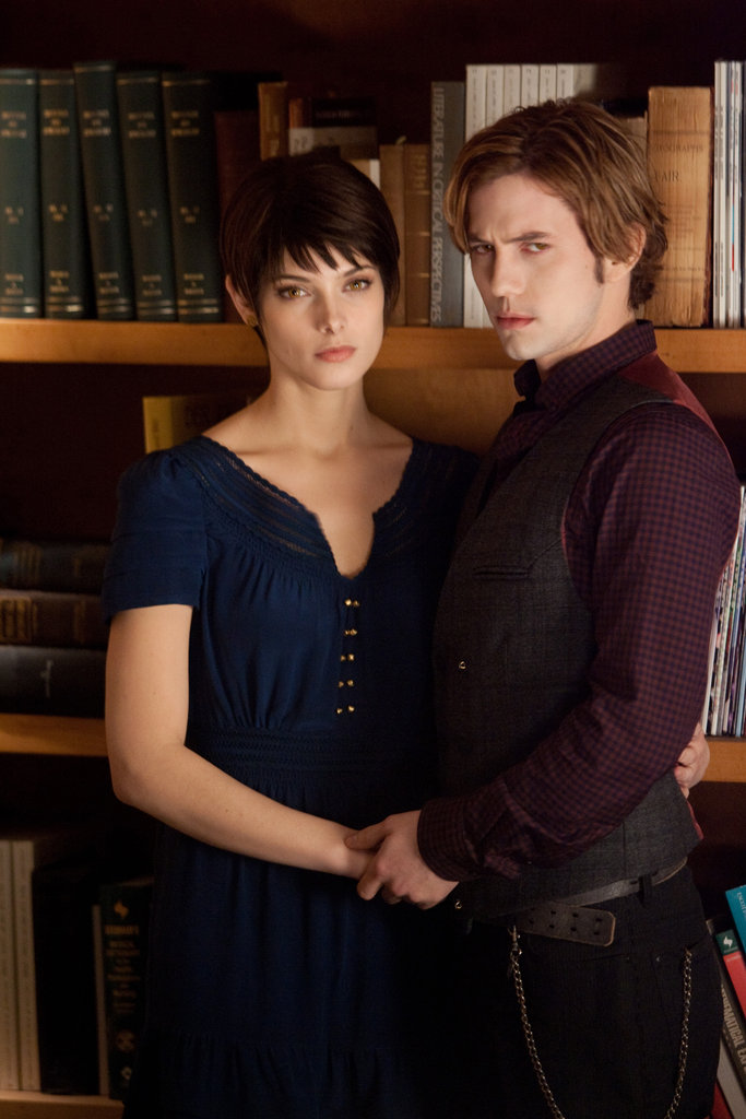 Alice and Jasper share a romantic moment in Breaking Dawn Part 2.
